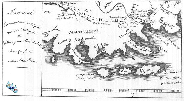 Carte Marine Presqu'ile de Giens la Presqu'île de Giens