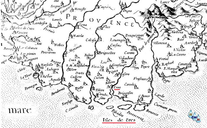 Carte Marine Presqu'ile de Giens la Presqu'île de Giens N'est